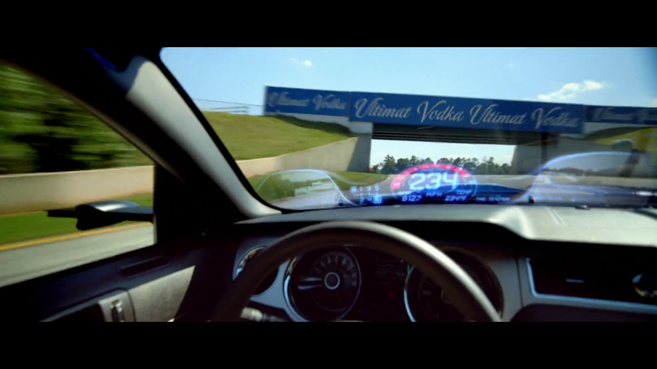 Blockbuster Need For Speed Mustang Rearview Mirror