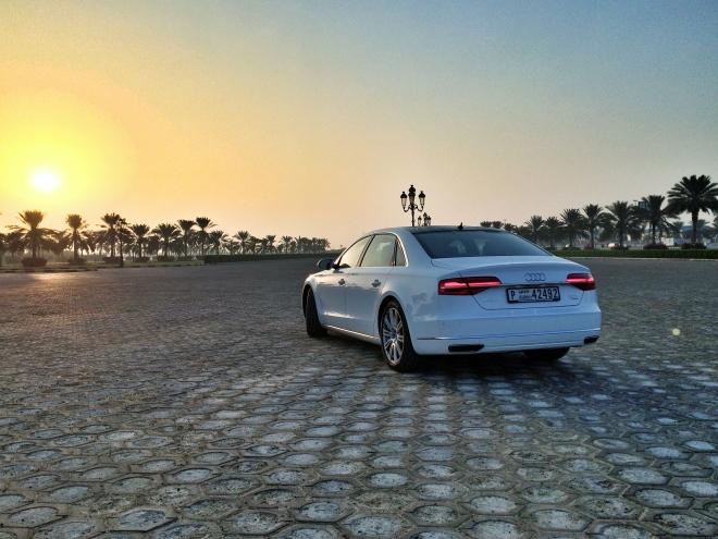 2014 Audi A8L Rear Three Quarter - instagram.com/samisiddiqi1