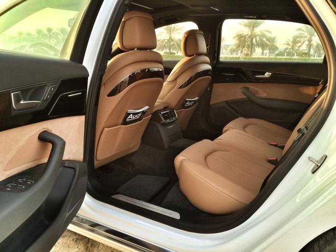 Audi A8 L Rear Seats - instagram.com/samisiddiqi1/