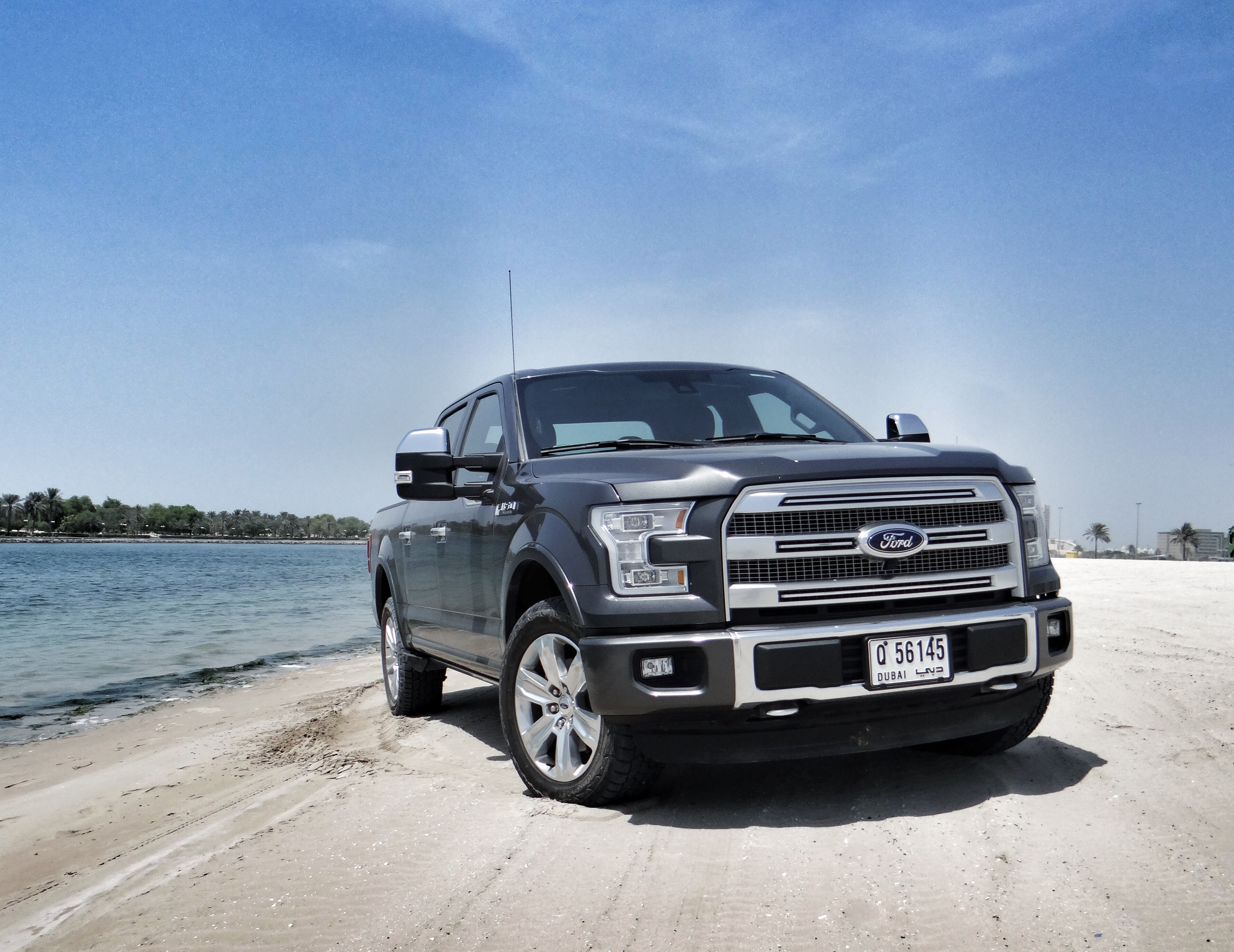the all new 2015 ford f 150 fx4 platinum from excursion trip to the 7 star hotel driveway. Black Bedroom Furniture Sets. Home Design Ideas