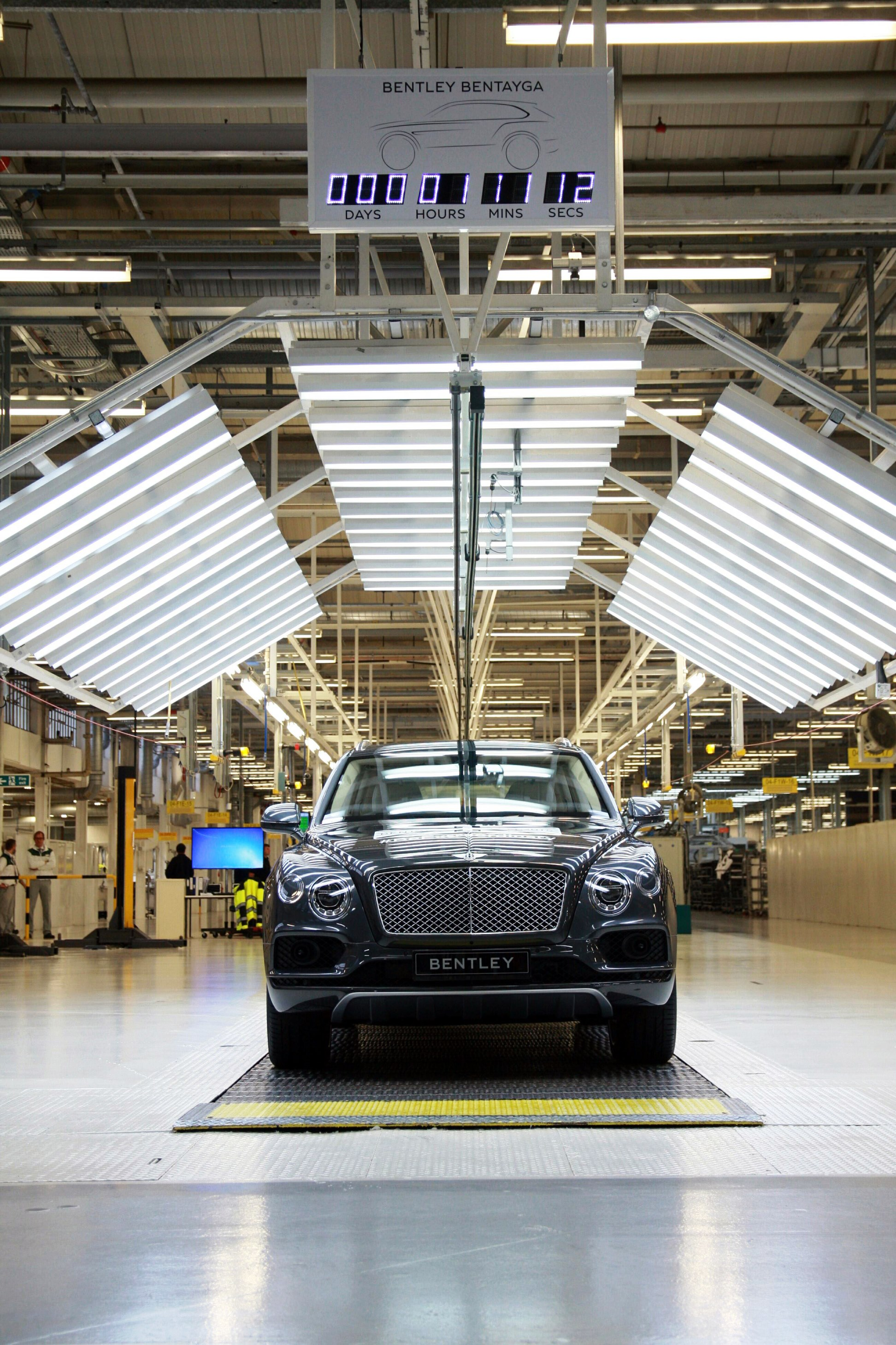 First Bentley Bentayga rolls off the production line - 3