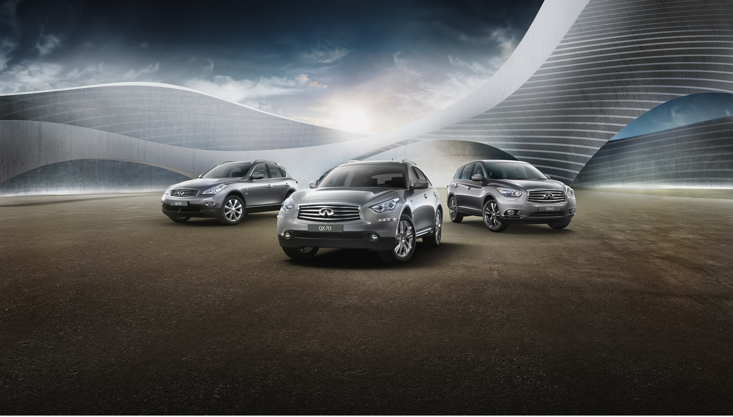 Arabian Automobiles Company Infiniti SUV line up.jpg